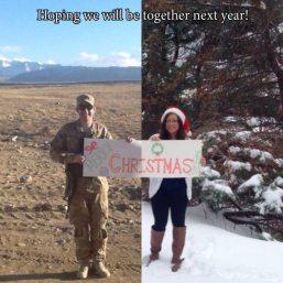 Couple photoshopped their own image into one photo.