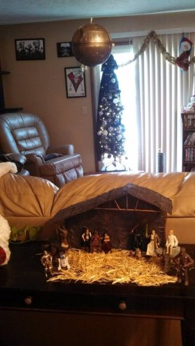 Star Wars Christmas scene.