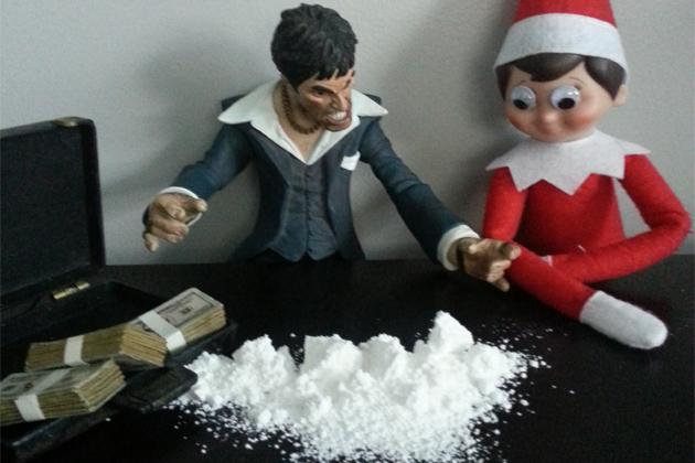 elf-on-a-shelf-al-pacino-cocaine