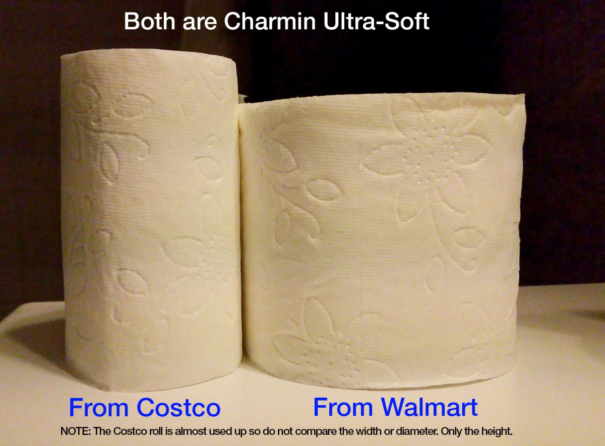 The toilet paper challenge. Costco vs Walmart.