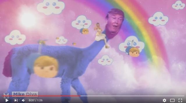 donald-trump-japanese-style-ad-fuzzy-dinosaur
