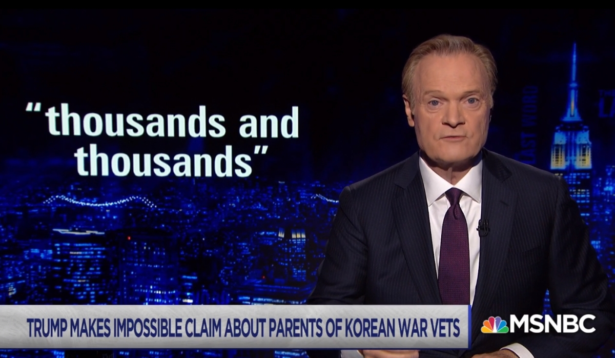 MSNBC Lawrence O'Donnell shares powerful words about Trump's lies -- bringing back soldier's remains from N Korea